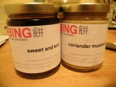 sweet and sour. coriander mustard